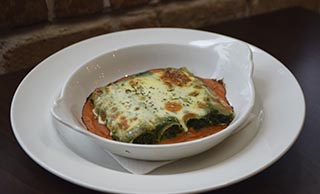 Spinach and Curd Cannelloni